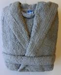 Peignoir Capuche Gris Souris - 100 % coton - 500gr/m²