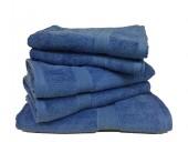 Lot de 5 Grandes Serviettes Eponge 600 g/m²  100 % coton - Bleu