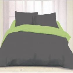 Housse de Couette 240x260 Steel Grey - Sap Green