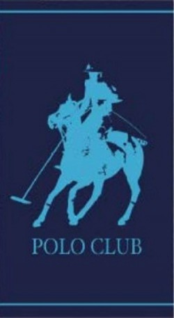 Serviette de plage Polo Club Bleu 90x170