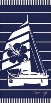 Serviette de plage Bateau Bleu S&S 90x170