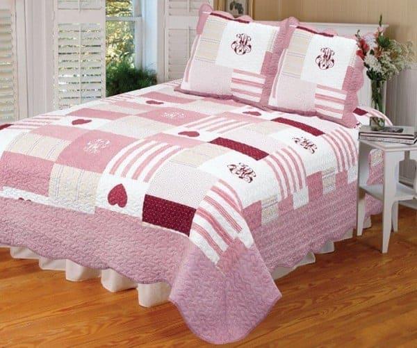 boutis couvre lit patchwork cancer 1 place. Black Bedroom Furniture Sets. Home Design Ideas