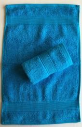 Lot de 2 Serviettes Invités Turquoise - 30x50