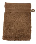 Lot de 4 Gants de Toilette - 20x15 - Marron