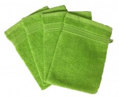 Lot de 4 Gants de Toilette - 20x15 - Anis