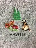 Essuie Main Rond Marmotte Gris