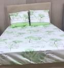 Drap Flanelle (4p) Fleur Vert