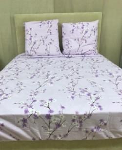 Drap Flanelle (4p) Jardin Japonais Violet