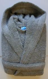 Peignoir Capuche 500g/m² Gris Souris 100% Coton