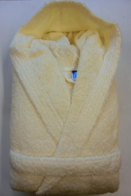 Peignoir Capuche 500g/m² Beige 100% Coton