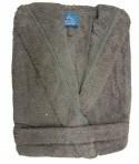 Peignoir Capuche 440 g/m² Gris 100% Coton
