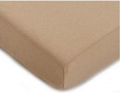 Drap Housse  Jersey 140x190 Bonnet 30cm  Coton Extensible Sable
