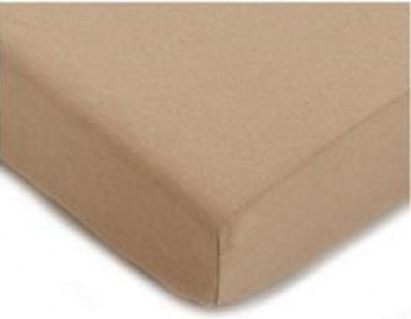 drap housse jersey 140x190 bonnet 30cm coton extensible naturel. Black Bedroom Furniture Sets. Home Design Ideas