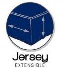 Drap Housse  Jersey 140x190 Bonnet 30cm  Coton Extensible Azur