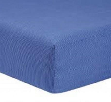 Drap Housse Jersey 2x70x190 Bonnet 30cm  Coton Extensible Azur