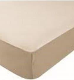 Drap Housse  Jersey 180x200 Maxi Bonnets Coton Extensible Nougat