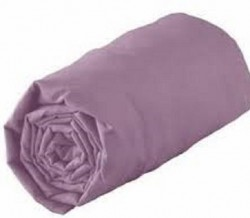 Drap Housse Jersey 180x200 Bonnet 30cm  Coton Extensible Lilas