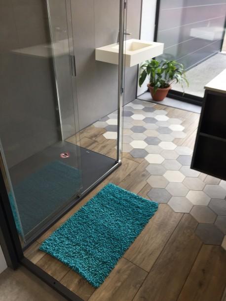 Tapis de bain Bambou 50x80 cm Turquoise