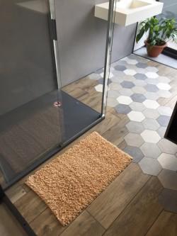 Tapis de bain Bambou 50x80 cm Beige