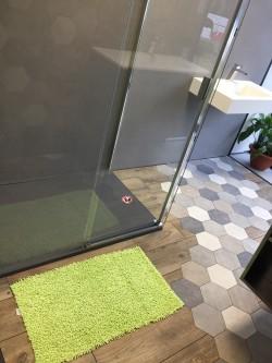Tapis de bain Bambou 50x80 cm Anis