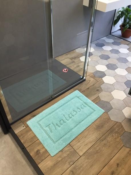 Tapis de bain 100% coton Tahiti 50x80 Aqua