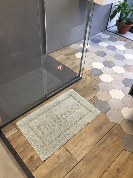 Tapis de bain 100% coton Tahiti 50x80 Ciment