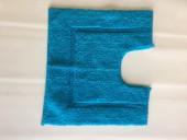 Tapis de bain contour WC et lavabo 100% coton Manihi 50x45 cm Turquoise