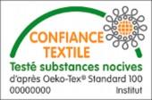Tapis de bain contour WC et lavabo 100% coton Manihi 50x45 cm Outremer