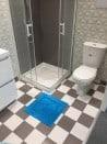 Tapis de bain 100% Coton Ahe 50x50 cm Turquoise