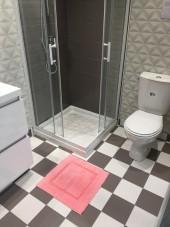 Tapis de bain 100% Coton Ahe 50x50 cm Rose