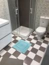 Tapis de bain 100% Coton Ahe 50x50 cm Aqua