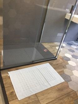 Tapis de bain 100% coton Brehat 50x80 Blanc