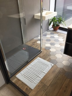 Tapis de bain 100% coton Brehat 50x80 Ciel