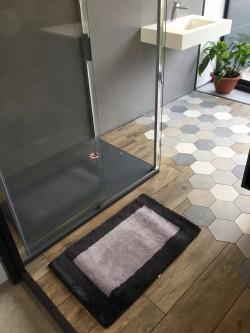 Tapis de bain Bahia Antidérapant 50x80cm Gris