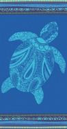 Serviette de plage Tortue sur fond bleu150X170 Sun&Surf