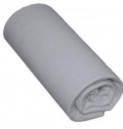 Drap housse 90x200 Gris Souris 100% coton Bonnet 30cm