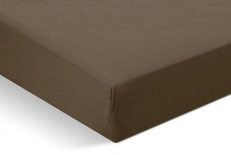 Drap housse 90x200 Chocolat 100% coton Bonnet 30cm
