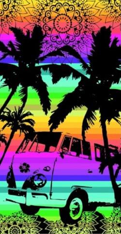 Serviette de plage Combi VW Multicolor Sun & Surf 90x170