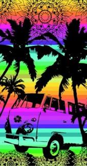 Serviette de plage Combi VW Multicolor  90x170