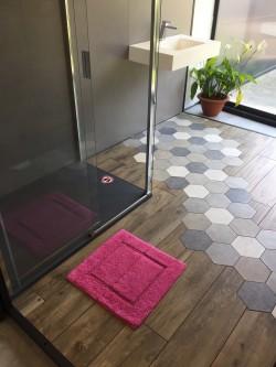 Tapis de bain 100% Coton Ahe 50x50 cm Fuschia