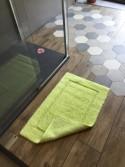 Tapis de bain 100% coton Lutèce Antidérapant Anis 50x80