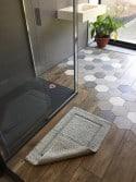 Tapis de bain 100% coton Lutèce Antidérapant Ciment 50x80