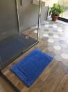 Tapis de bain 100% coton Lutèce Antidérapant Outremer 50x80