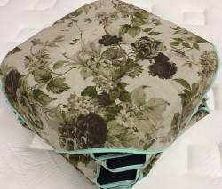 Lot de 6 galettes de chaise Floral Vert