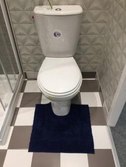 Tapis de bain contour WC et lavabo 100% coton Manihi 50x45 cm Marine