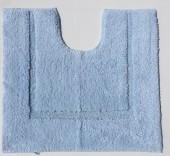 Tapis de bain contour WC et lavabo 100% coton Manihi 50x45 cm Ciel