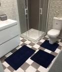 Ensemble tapis de bain 3 pièces 100% coton