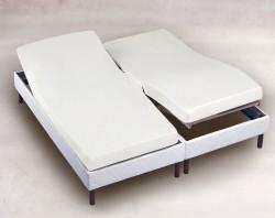 Drap Housse 2x70x190 Blanc TPR