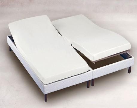 Drap housse TPR 160x200 Blanc