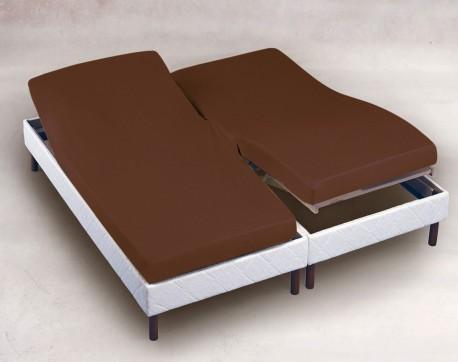 Drap housse Chocolat 2x70x190 TPR